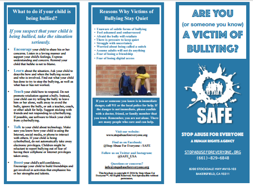 Victims of Bullying Brochure
